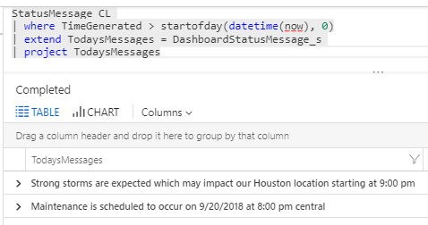 how to add a news flash to your Azure dashboards