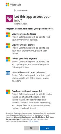 Cortana calendar
