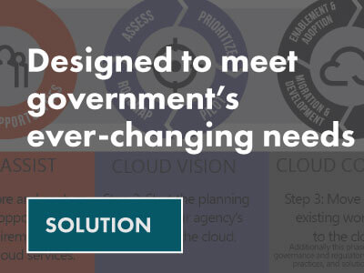 Disgned to meet government's ever-changing needs solution sheet