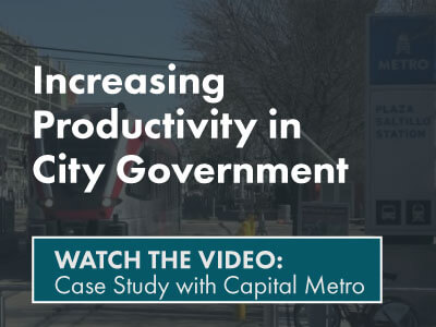 Increasing productivity in city governement- watch the video