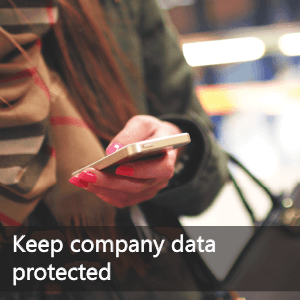 Keep company data protected