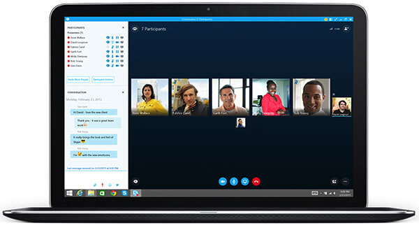 Photo of Skype call