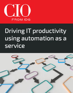 Driving IT productivity using automation as a service