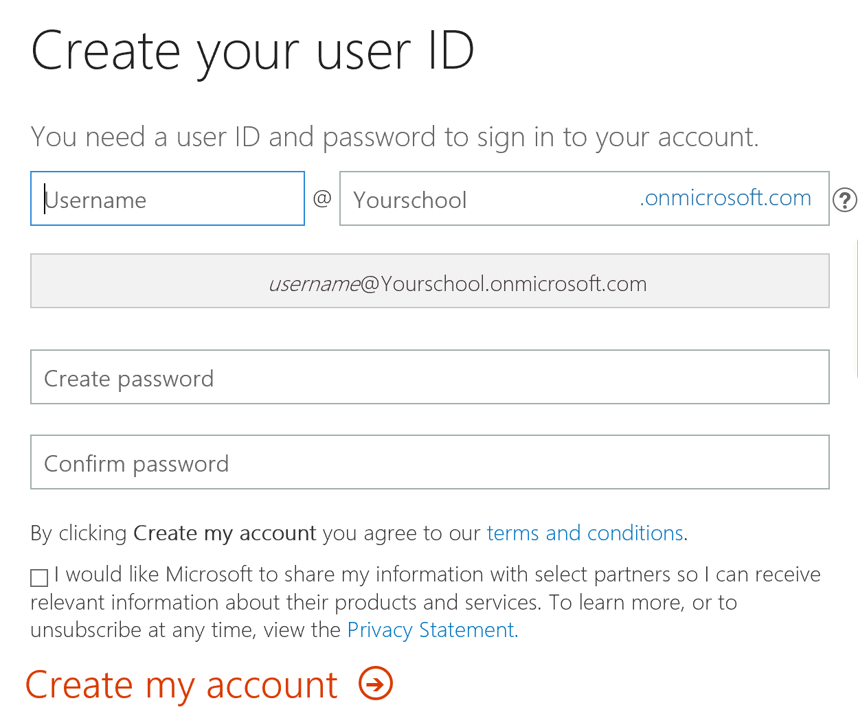 Creating admin user