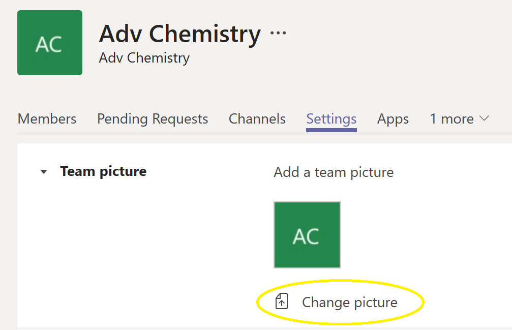 Changing a classes picture