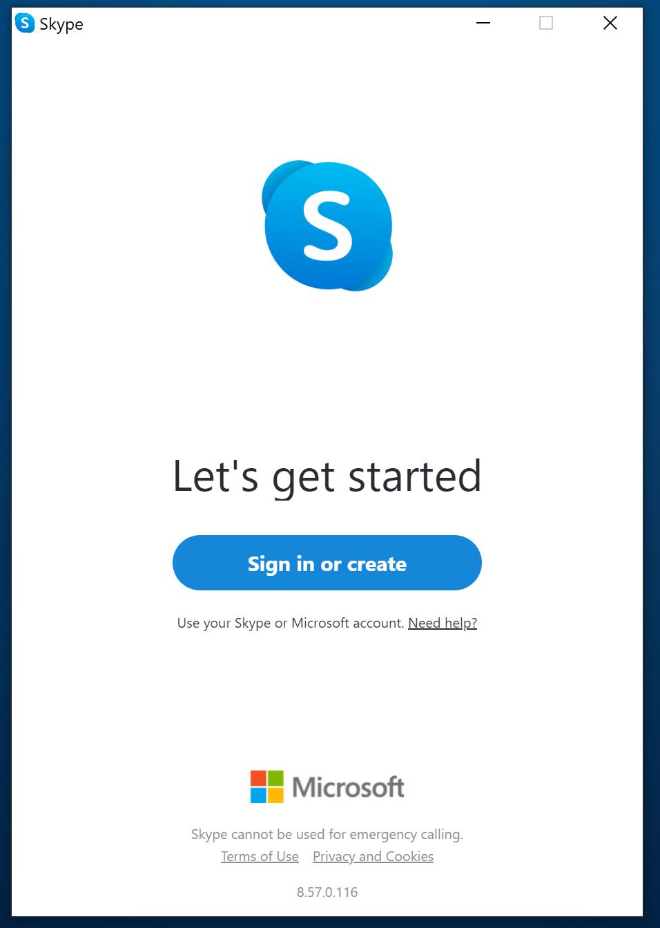 Skype - get started