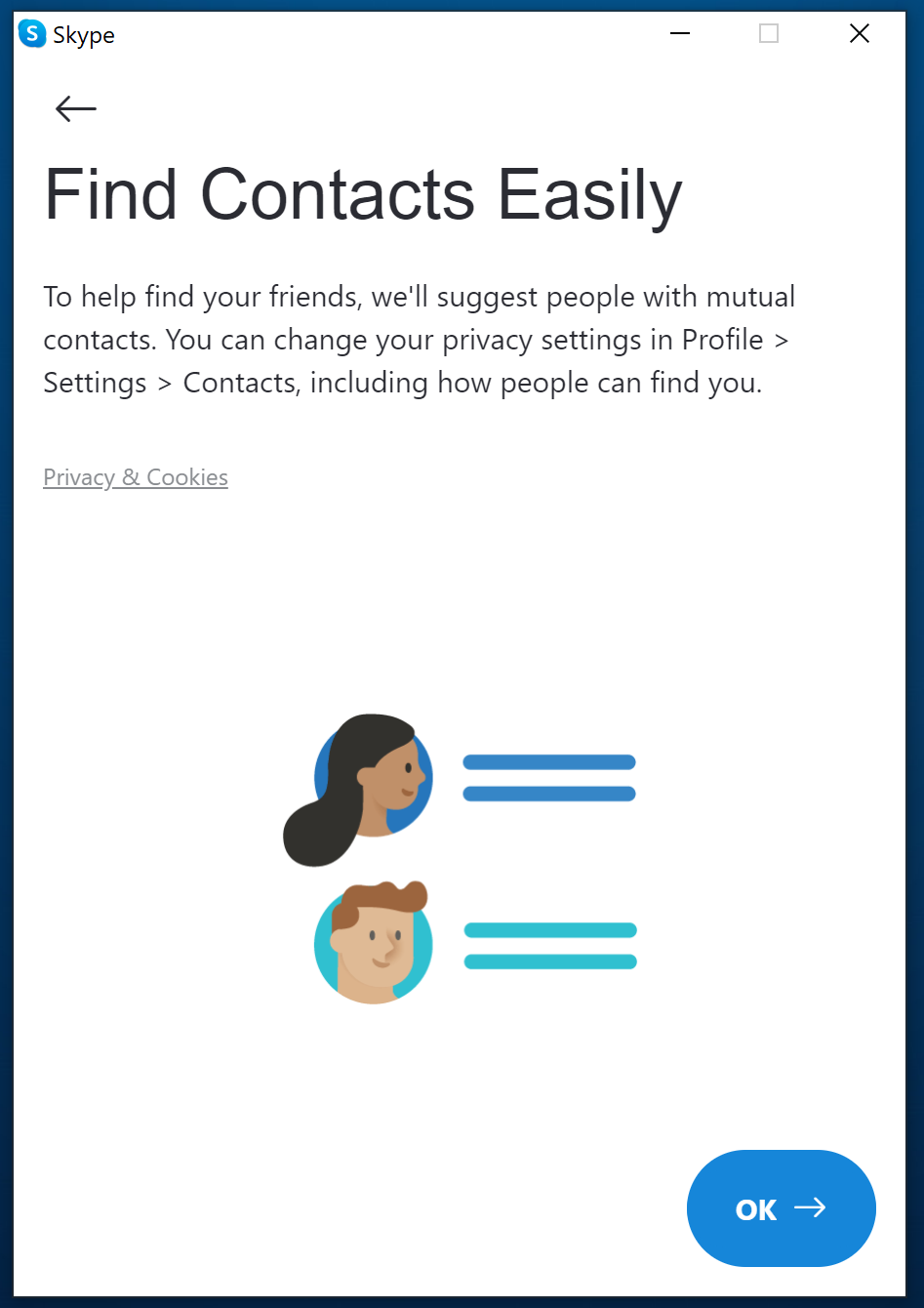 Find contacts - Skype