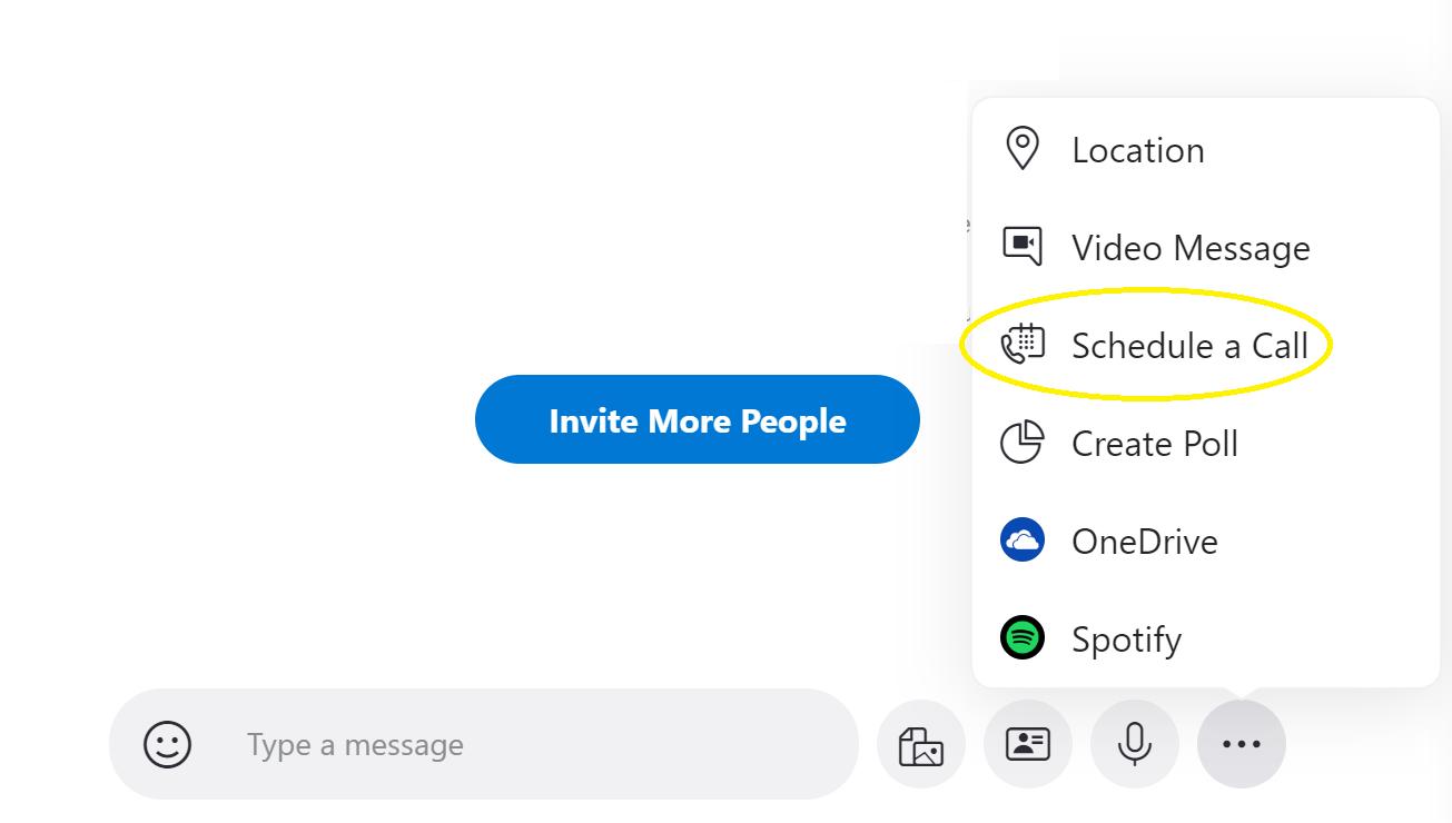 Schedule a call - Skype