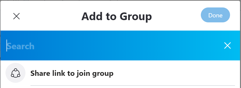 Skype - add to group