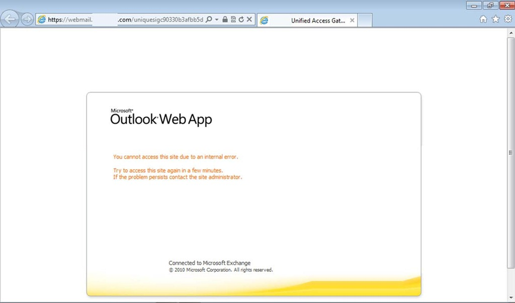 microsoft outlook web app problems