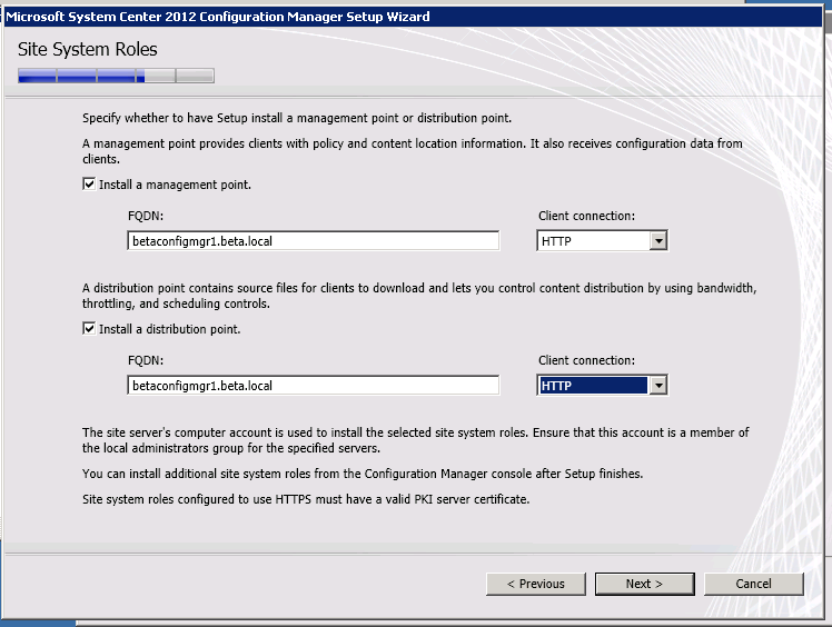 Installing System Center 2012 Configuration Manager and