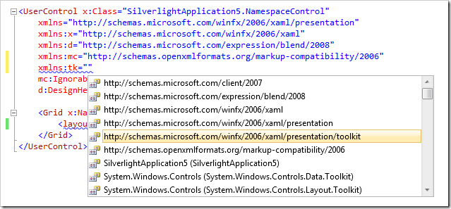 Creating Your Own XML Namespaces for Silverlight - Catapult