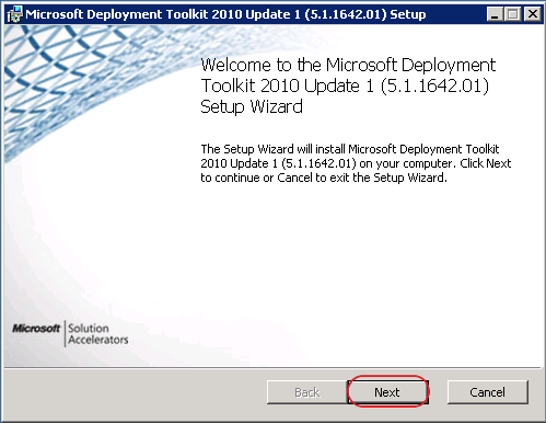 Integrating Microsoft Deployment Toolkit 2010 Update 1 With