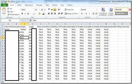 LyncVoice - Excel -policies - markup