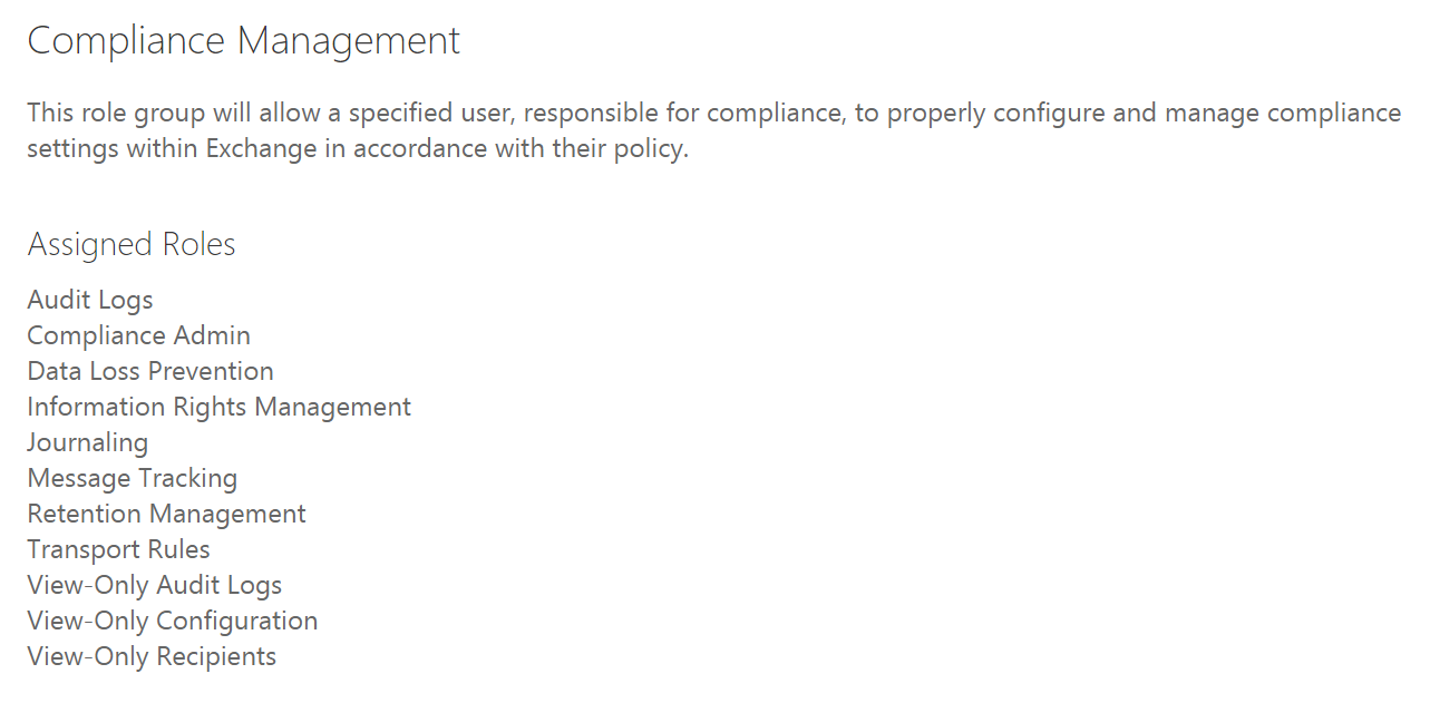 Security and Compliance Roles in Office 365